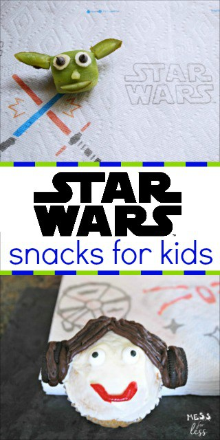 Check out these fun Star Wars snacks for kids. My kids loved the Princess Leia cupcakes and Yoda kiwi snacks. #AD #QuickerPickerUpper #StarWars #TheLastJedi @Bounty