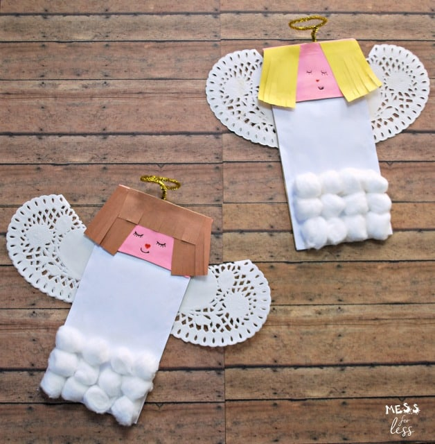 paper bag angel craft #sponsored