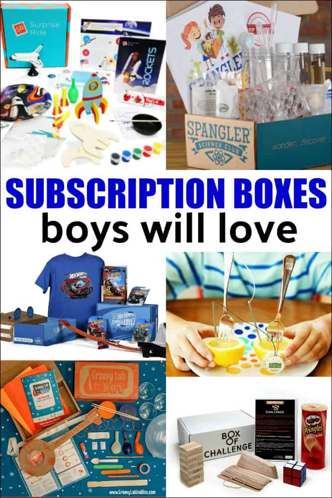 Best Subscription Boxes for Boys - looking for the perfect anytime gift for a boy? There are subscription boxes for every interest. Find out the best ones that boys love!