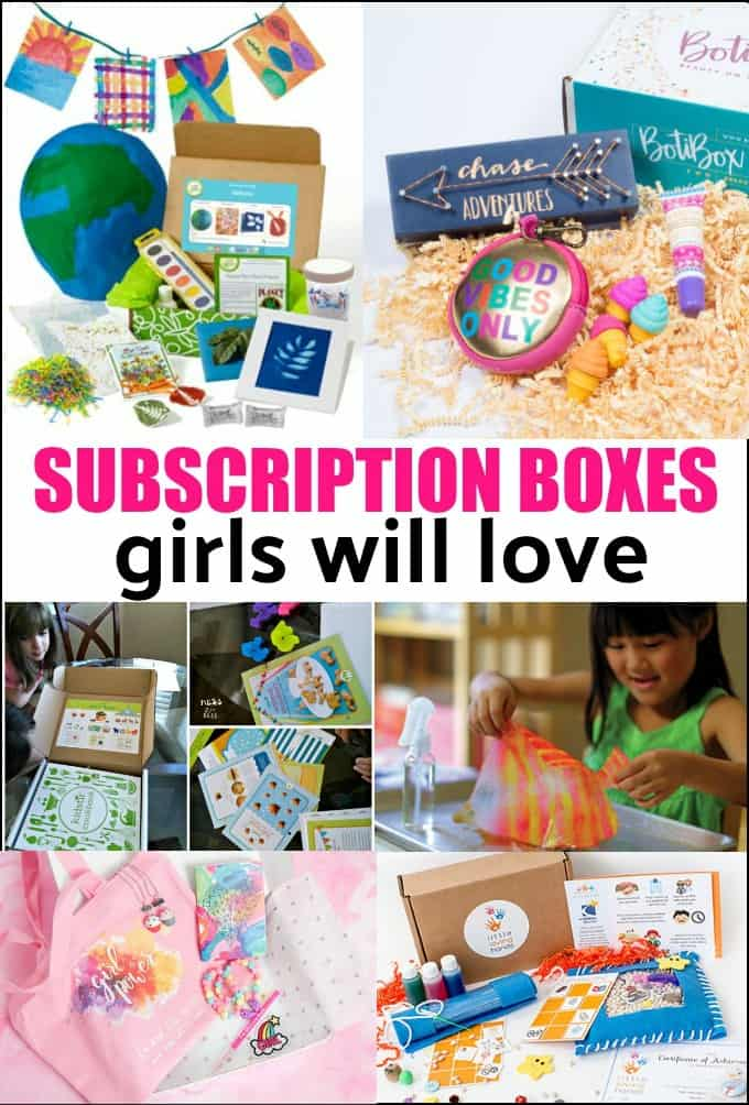 Best Subscription Boxes for Girls - looking for the perfect anytime gift for a girl? Try a subscription box. There are some for every age and stage of girl. Find out what are the best boxes out there! #subscriptionboxes #Christmasgifts #birthdaygifts #giftsforgirls