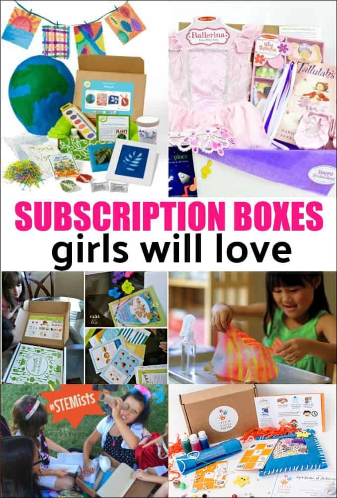 Best Subscription Boxes for Girls - looking for the perfect anytime gift for a girl? Try a subscription box. There are some for every age and stage of girl. Find out what are the best boxes out there!