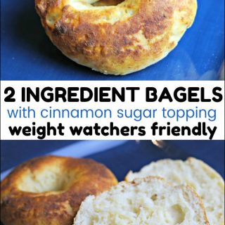 2 Ingredient Bagels with Cinnamon Sugar Topping