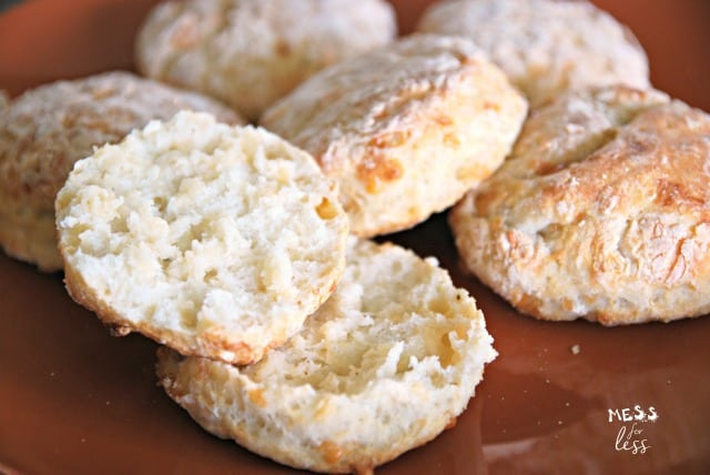 Cheesy Biscuits with Two Ingredient Dough