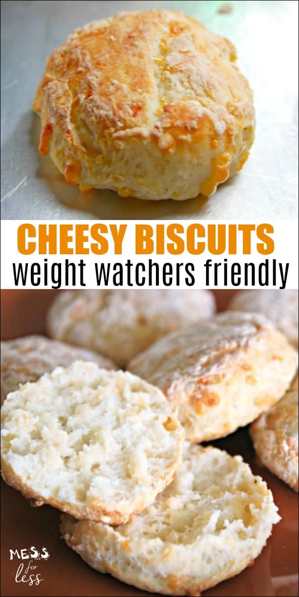These Cheesy Biscuits with Two Ingredient Dough - Weight Watchers Friendly are similar to biscuits from that popular seafood chain. But at only 2 points each, you can enjoy them without guilt. An easy Weight Watchers recipe! #twoingredientdough #weightwatchers