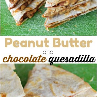 Peanut Butter Quesadilla with Chocolate