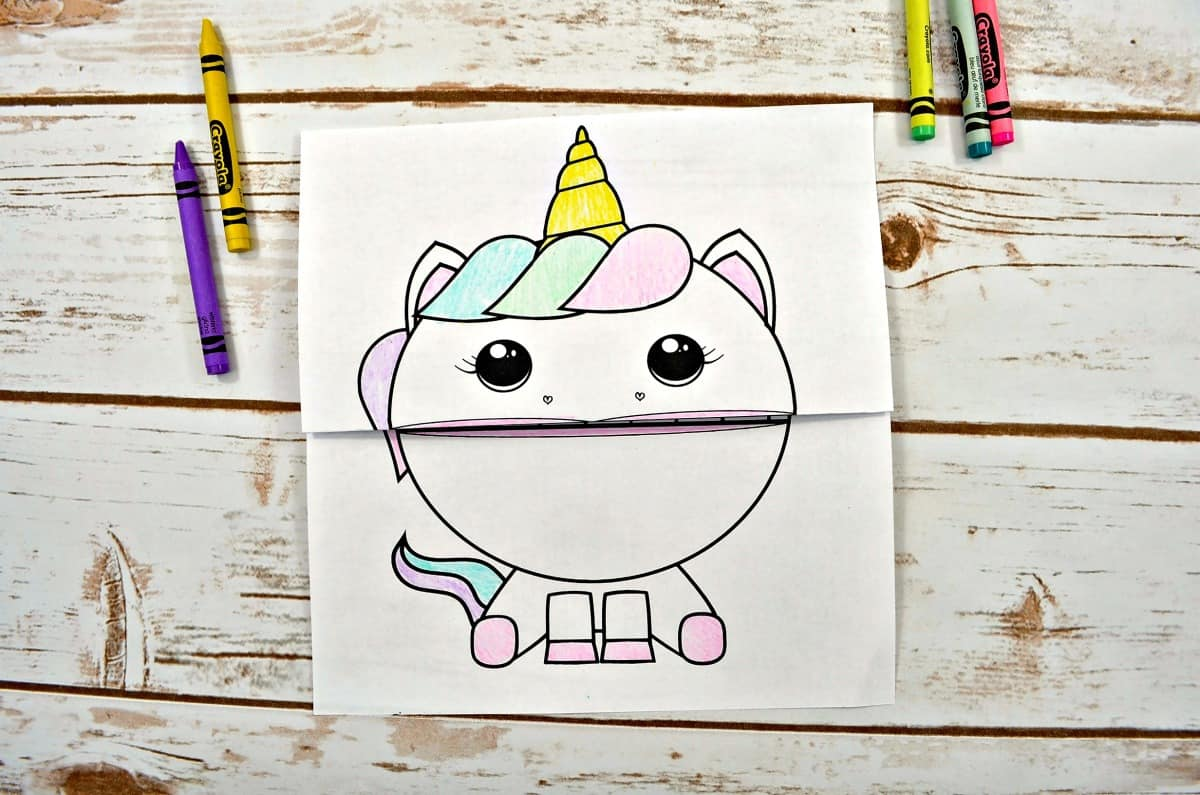 colored unicorn sheet