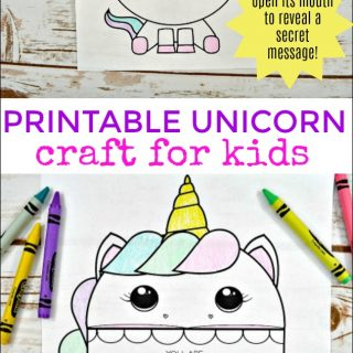 Printable Unicorn Craft for Kids