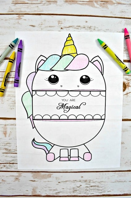 photo regarding Printable Arts and Crafts identify Printable Unicorn Craft for Youngsters - Mess for Fewer
