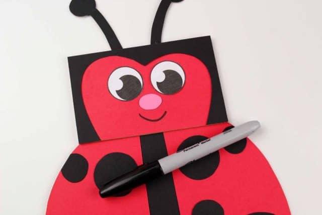 Your Paper Bug Ladybug Craft Is Finished Bag Puppet