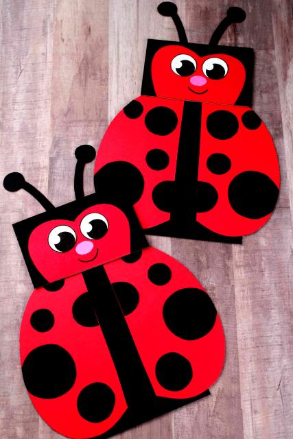 paper bag lady bug craft