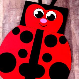 Paper Bag Ladybug Craft