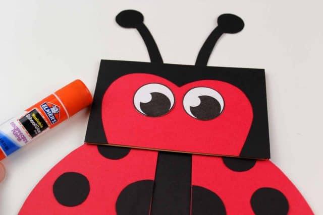 lady bug face craft