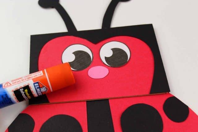 paper ladybug face