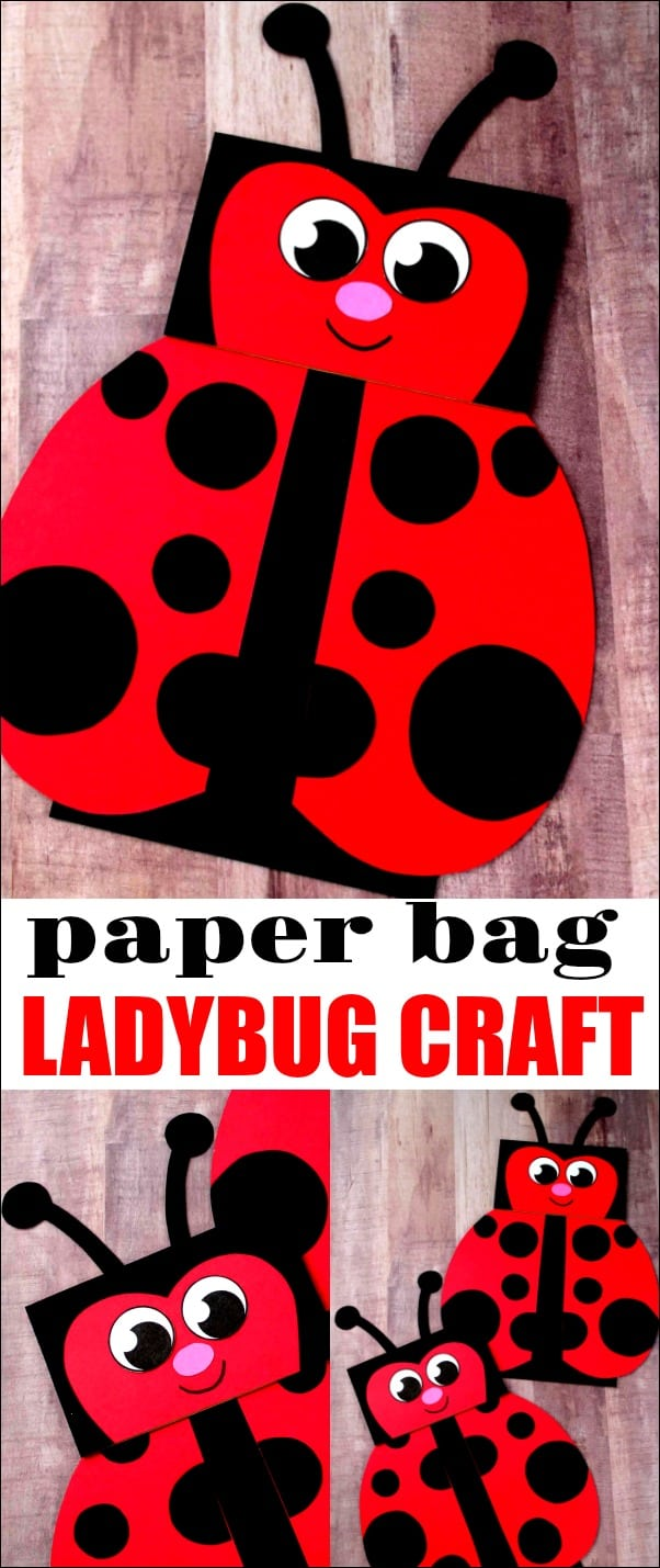 Paper Bag Ladybug Craft - This ladybug craft is great to do if you are studying ladybugs or are just a fan. You'll never believe this cutie was made with a paper bag. #ladybugcraft #paperbagpuppet