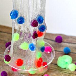 How to Make Pom Pom Slime for Kids