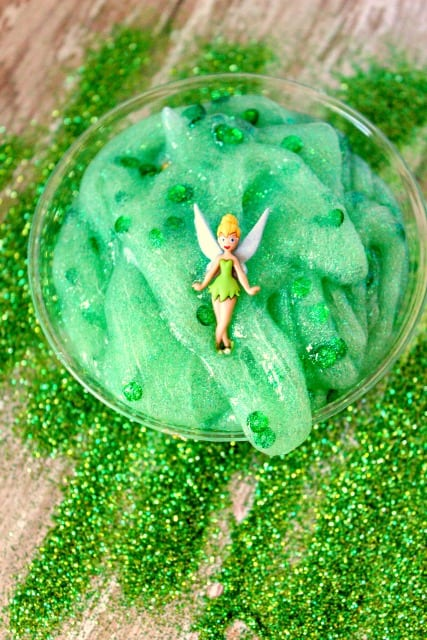 tinkerbell slime in a bowl