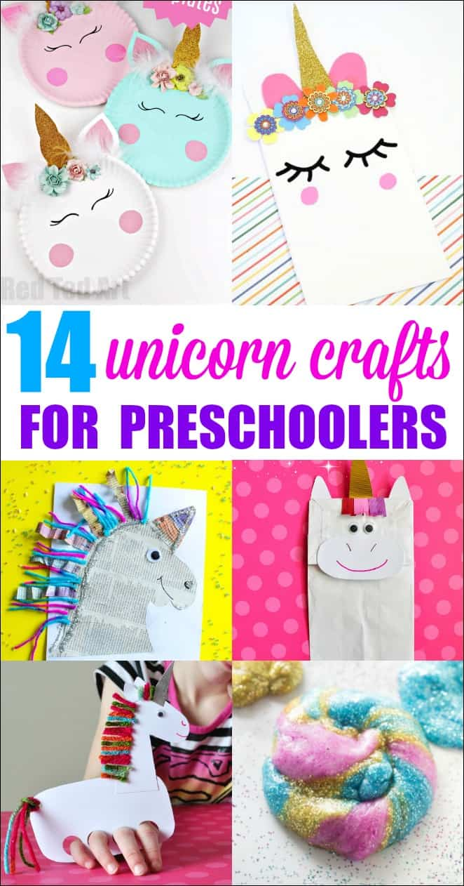 unicorn crafts for preschoolers mess for less