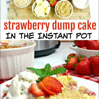 Strawberry Dump Cake in the Instant Pot