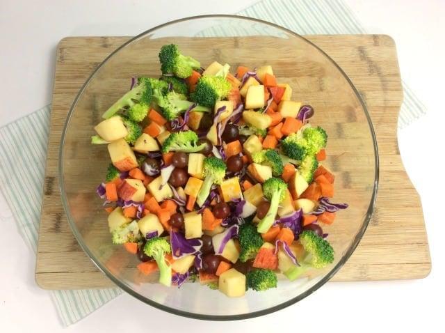 Broccoli Apple Salad in a bowl