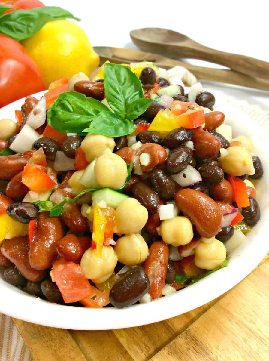 bowl of 3 bean salad