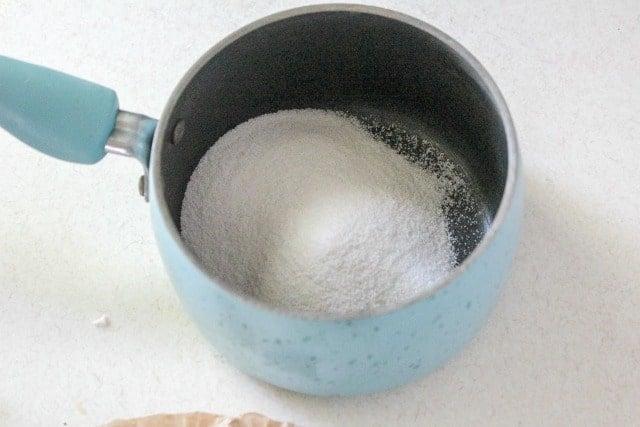 gelatin in a saucepan