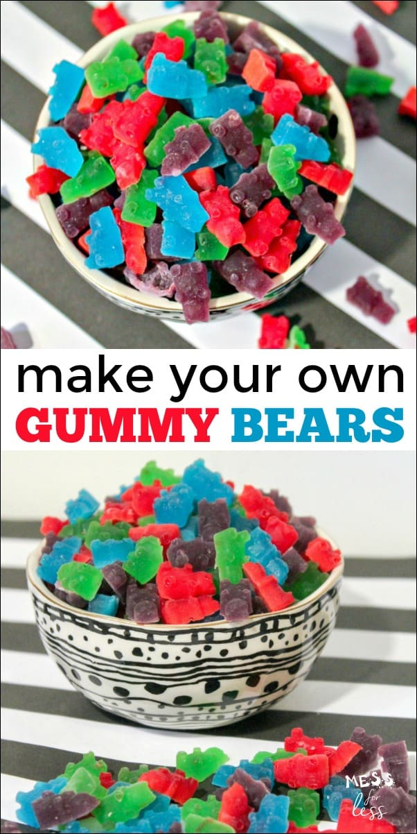 Gummy Bears Recipe - Mess for Less