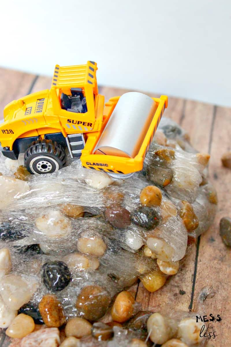 rock slime and toy truck