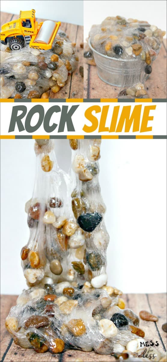 Learn how to make rock slime for kids. It is easier than you think and kids will delight in the texture. #slime #slimerecipe #easyslime