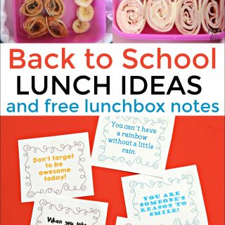 Back to School Lunch Ideas and Lunchbox Notes