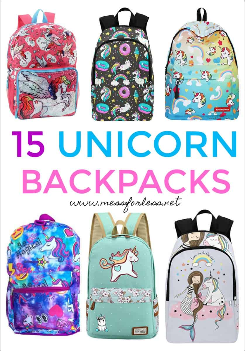 Unicorns are so popular right now. Everything is all about these sparkly, mythical creatures. I've done lots of research and come across some awesome Unicorn Backpacks sure to delight any unicorn lover. #unicorns #unicornbackpacks