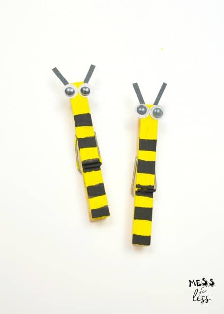 bumble bee clothes pins