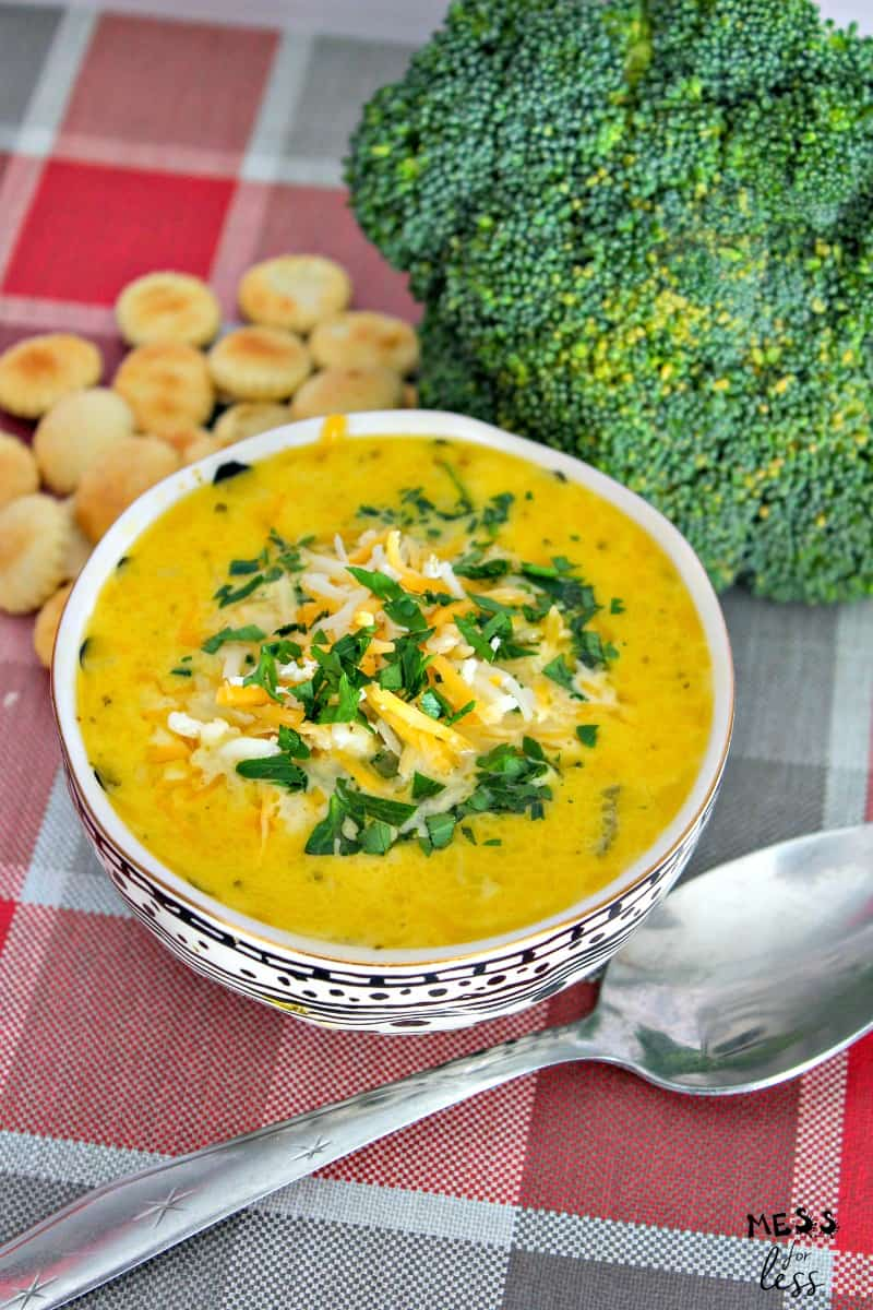 broccoli cheddar soup in the instant pot