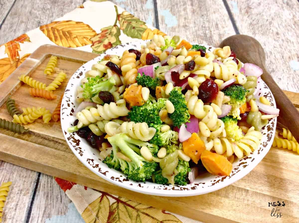 weight watchers pasta salad with sweet potatoes