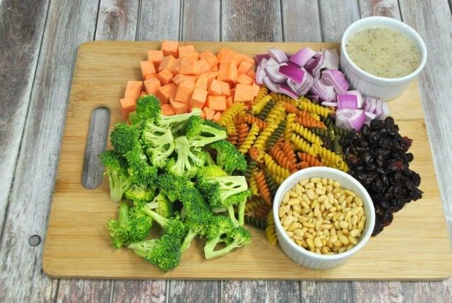 ingredients for weight watchers pasta salad
