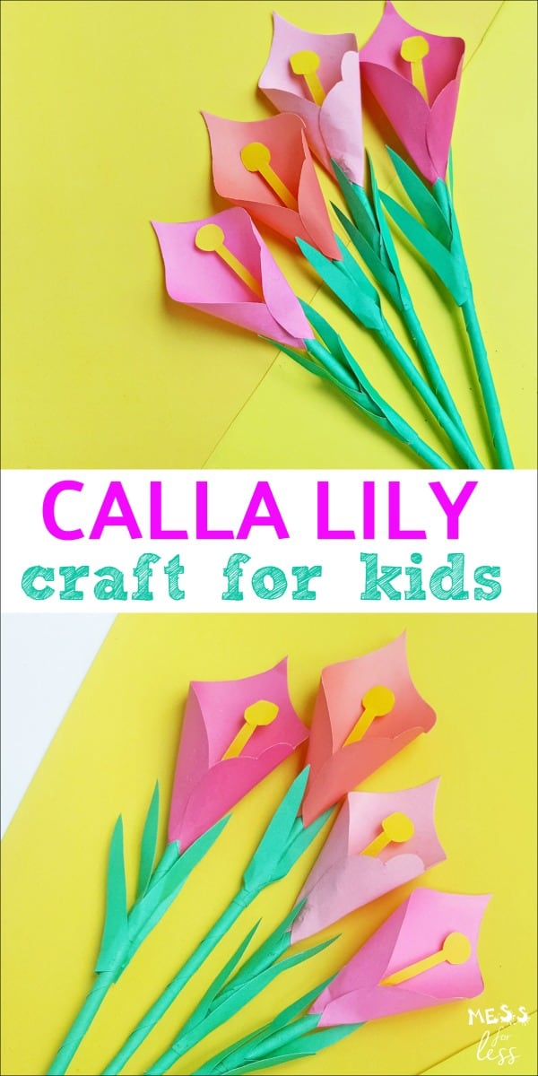 This Calla Lily Craft for Kids is easy to make with our free templates that you can download.