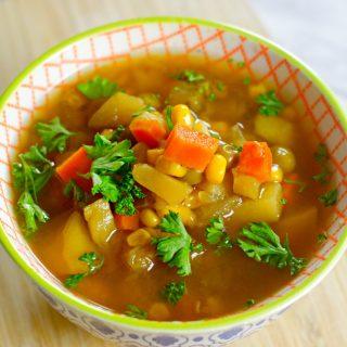 Corn and Zucchini Instant Pot Soup