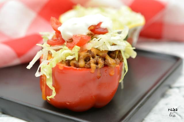 keto taco stuffed peppers