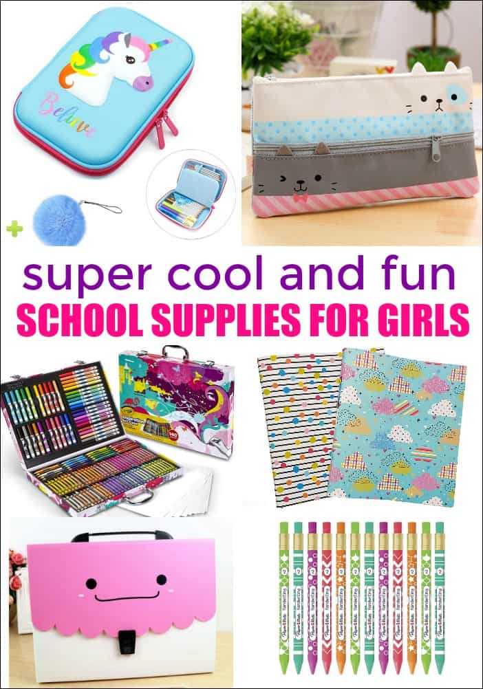 Here are some adorable school supplies for girls sure to send your girl back to school in style.