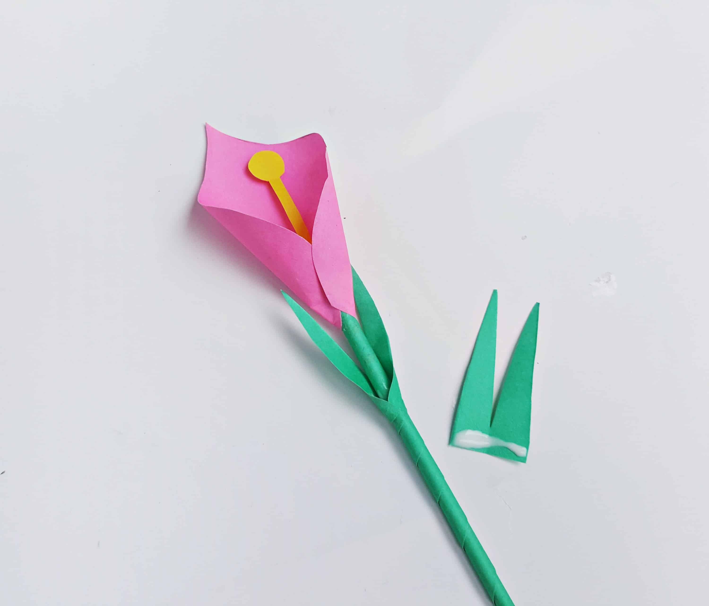assembling a paper flower
