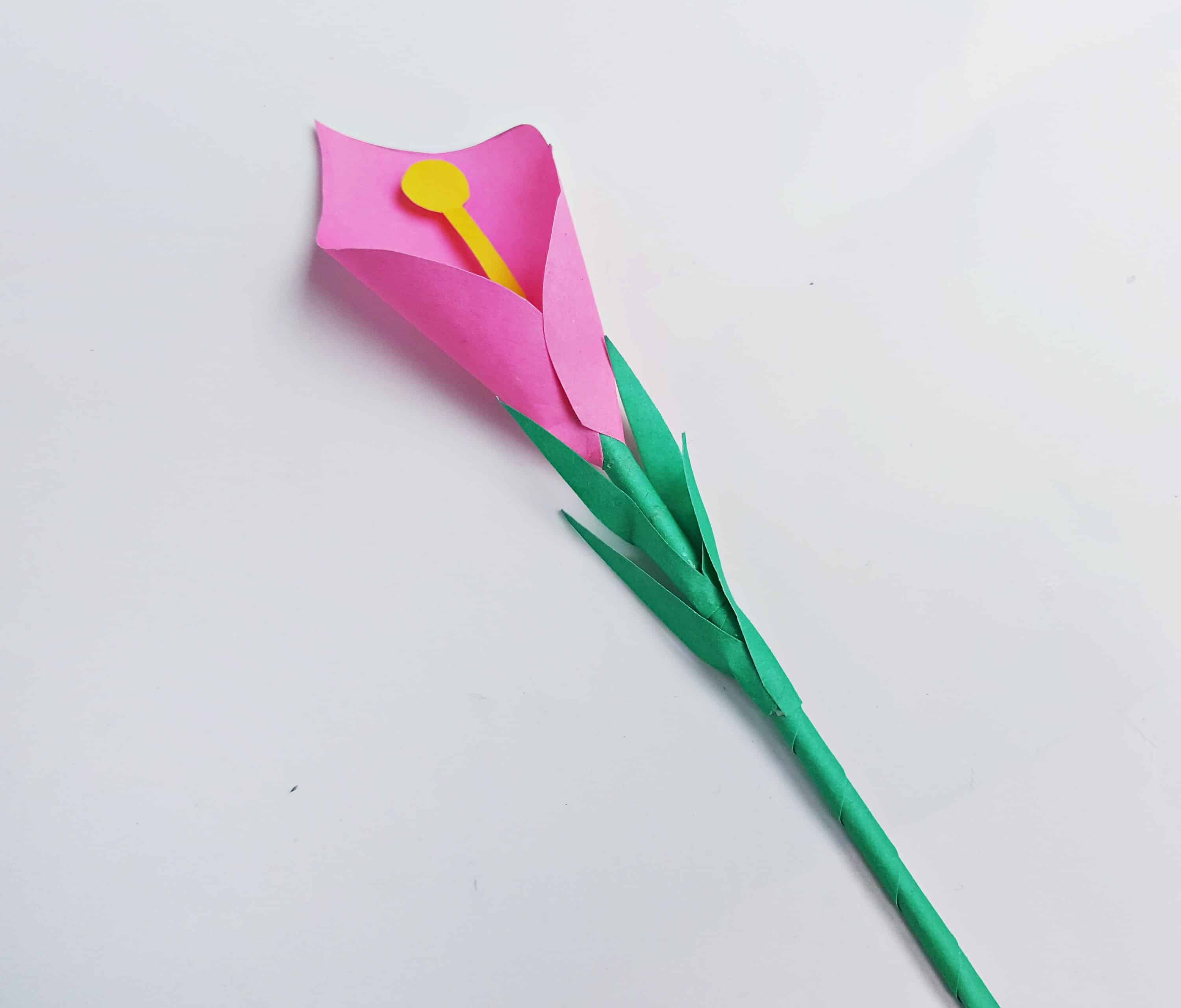 calla lily paper craft calla craft for mess for less 3492