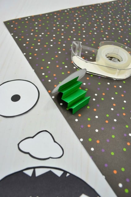 Zombie craft for kids mess for less - Zombie scars with glue ...