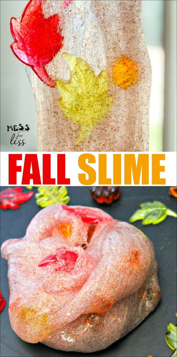 My favorite thing about this Fall Slime Recipe is the scent. It smells like one of the best fall scents out there - cinnamon. Every time your kids play with it, they will be greeted by a delightful fragrance. #fallslime #slimerecipe #slime