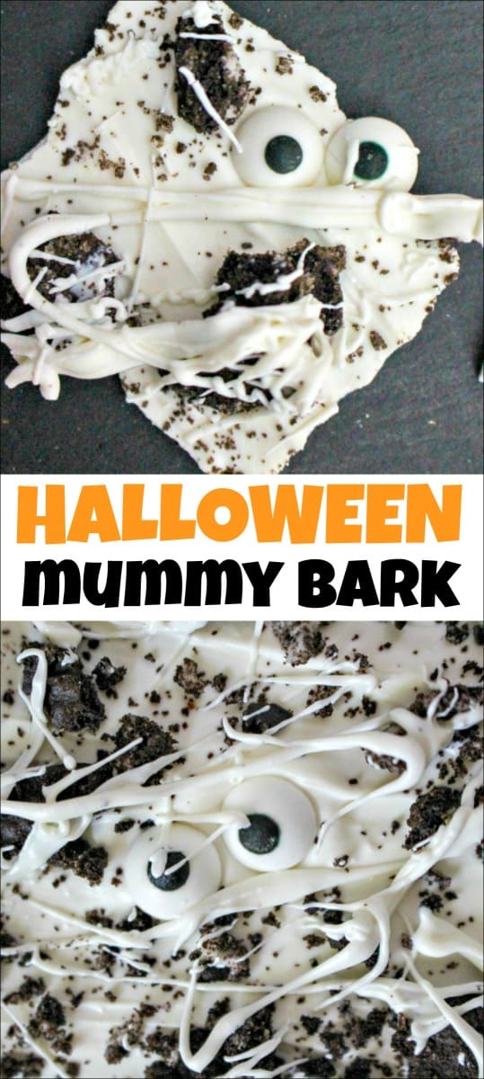 Are you looking for any easy Halloween treat to make with your kids or for a Halloween party? Look no further than this Mummy Oreo Bark. You only need 3 ingredients to make it and it takes just minutes to make.