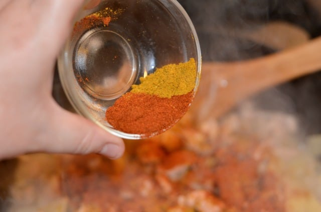 curry powder, ginger and paprika