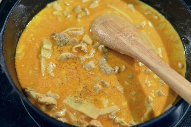 curry chicken in a pan