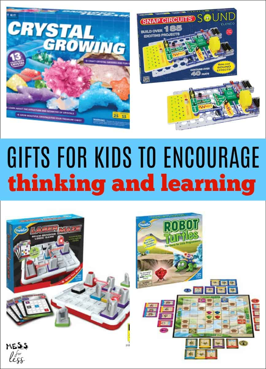 Gifts for Kids to Promote Thinking and Learning - the ultimate gift guide with toys and games to get kids thinking! #giftguide #gifts