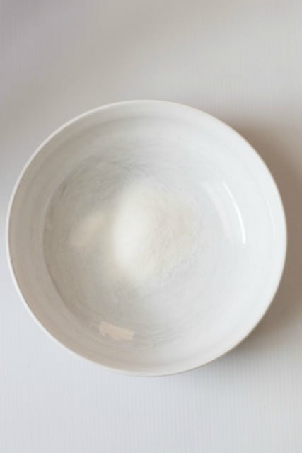 instant snow in a bowl