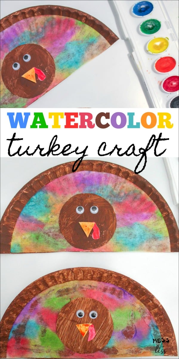 Paper Plate Turkey Craft For Kids Mess For Less
