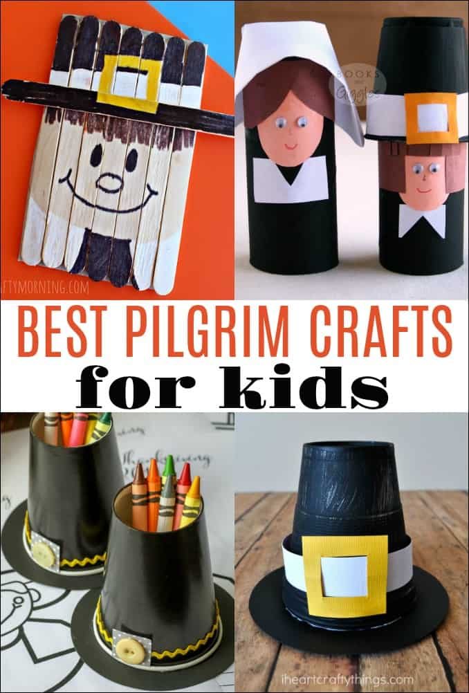 Here are the best Pilgrim crafts for kids. You can do these on their own, or incorporate them with a book or a lesson about the Pilgrims as you prepare to celebrate Thanksgiving.