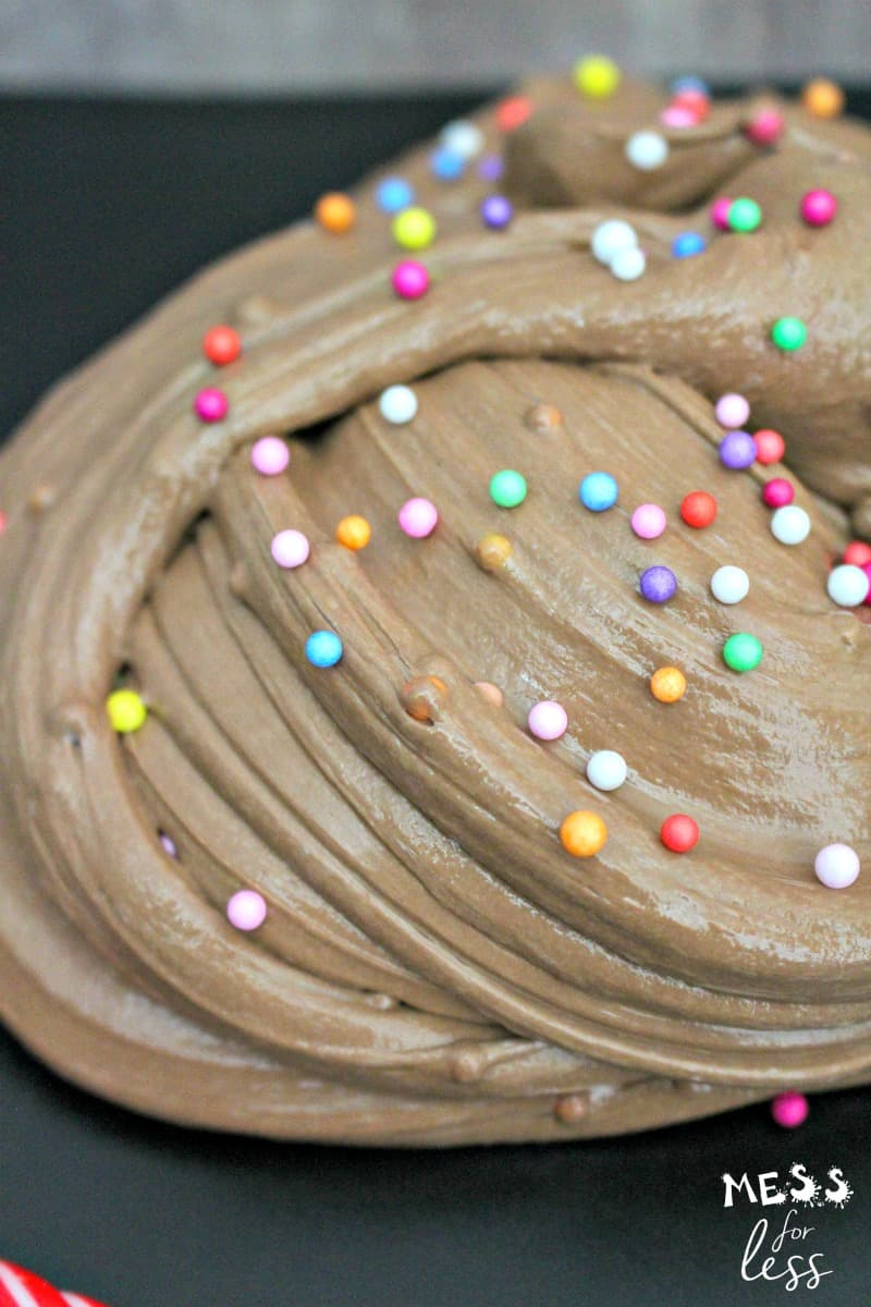 chocolate birthday cake slime